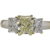 1.76 ct. Radiant Cut 3 Stone Ring #3