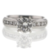 1.00 ct. Round Cut Central Cluster Ring #2