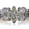 .99 ct. Princess Cut Central Cluster Ring #1