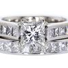 1.03 ct. Princess Cut Bridal Set Ring #3