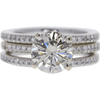1.72 ct. Round Cut Bridal Set Ring, M-Z, I1 #3