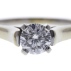 0.72 ct. Round Modified Brilliant Cut Solitaire Ring, G, SI1 #4