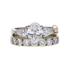 1.18 ct. Oval Cut Bridal Set Ring, F, SI1 #3