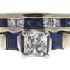 0.72 ct. Radiant Cut Bridal Set Ring, H, VS2 #4