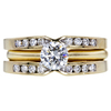 0.54 ct. Round Cut Bridal Set Ring, G, VS2 #3