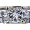 1.07 ct. Princess Cut Bridal Set Ring, F, SI1 #4
