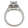 1.29 ct. Princess Cut Halo Ring, G, SI2 #4