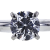 0.86 ct. Round Cut 3 Stone Ring, F, SI2 #4