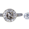 1.05 ct. Round Cut Bridal Set Ring, G, SI1 #3