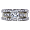 0.90 ct. Princess Cut Bridal Set Ring, H, SI2 #3