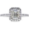 1.3 ct. Emerald Cut Halo Ring, I, SI2 #3