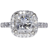 2.21 ct. Princess Cut Halo Ring, H, VS2 #3