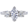 0.88 ct. Marquise Cut 3 Stone Ring, E, SI2 #3