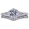 1.00 ct. Round Cut Bridal Set Ring, D, VVS2 #2