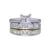 0.98 ct. Princess Cut Bridal Set Ring, G, SI1 #4