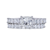 1.00 ct. Princess Cut Bridal Set Ring, J, SI1 #3