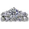 1.51 ct. Round Cut Bridal Set Ring, K, VS2 #3