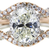 1.71 ct. Oval Cut Halo Ring, J, VS1 #4