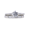 0.65 ct. Round Cut Bridal Set Ring, G, SI1 #3