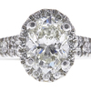 1.09 ct. Oval Cut Halo Ring, I, SI2 #4