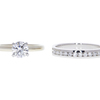 0.83 ct. Round Cut Bridal Set Ring, F, VS1 #2