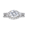1.14 ct. Round Cut Bridal Set Ring, E, SI1 #3