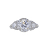 1.05 ct. Round Cut 3 Stone Ring, D, SI2 #3
