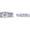 1.56 ct. Round Cut Bridal Set Ring, F, SI2 #3