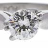 0.89 ct. Round Cut Bridal Set Ring, K, VS2 #4