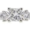 1.03 ct. Princess Cut 3 Stone Ring, H, VVS2 #4