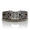 1.00 ct. Princess Cut Bridal Set Ring #1