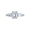 1.07 ct. Emerald Cut 3 Stone Ring, F, VVS2 #3