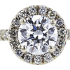 1.01 ct. Round Cut Halo Ring, H, SI2 #4