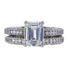 2.00 ct. Emerald Cut Bridal Set Ring, F, VS1 #3