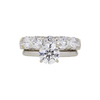 1.04 ct. Round Cut Bridal Set Ring, G-H, I2 #2