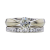 0.92 ct. Oval Cut Bridal Set Ring, K, VS1 #3