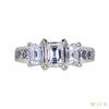0.61 ct. Emerald Cut 3 Stone Ring, F-G, VS1-VS2 #2