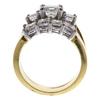 0.98 ct. Princess Cut Bridal Set Ring, H-I, VS2 #3