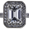 1.20 ct. Emerald Cut Bridal Set Ring, F, VS2 #4