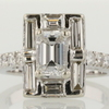0.89 ct. Emerald Cut Halo Ring #1