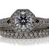 0.91 ct. Round Cut Bridal Set Ring #1