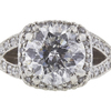 1.51 ct. Round Modified Brilliant Cut Halo Tacori Ring, H, I1 #4