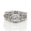 .99 ct. Princess Cut Bridal Set Ring #4