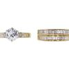 0.94 ct. Round Cut Bridal Set Ring, G, I1 #3
