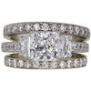 1.7 ct. Princess Cut Bridal Set Ring, E, VS2 #3