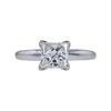 1.02 ct. Princess Cut Solitaire Ring, G, I1 #3