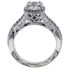 0.92 ct. Round Cut Halo Ring, F, IF #3