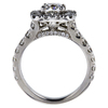 1.01 ct. Cushion Cut Halo Ring, H, SI2 #3