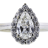 1.01 ct. Pear Cut Bridal Set Ring #4