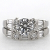 1.18 ct. Round Cut Bridal Set Ring #1